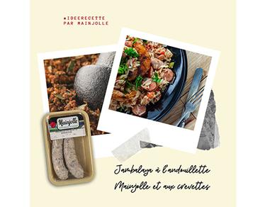 Jambalaya à l'andouillette et aux crevettes