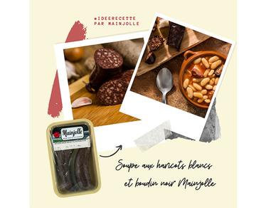 Recette : la soupe aux haricots blancs et boudin noir Mainjolle