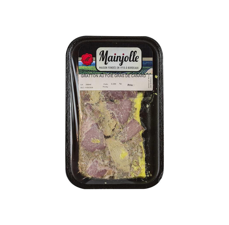 Les grattons bordelais au foie gras Mainjolle